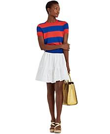 Petite Eyelet Cotton Broadcloth Skirt