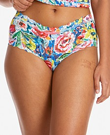 Women's Lace Printed Boyshort Underwear