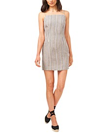 Cotton Striped Bodycon Dress