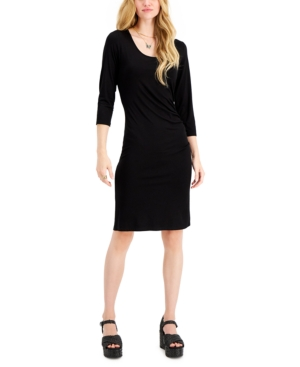 Jersey Ruched-Side Dress
