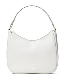 Roulette Large Leather Hobo Bag