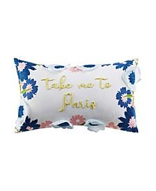 """Take Me to Paris 14"""" x 20"""" Decorative Pillow"""