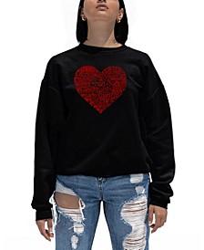 Women's Word Art Country Music Heart Crewneck Sweatshirt