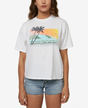 O'neill Juniors' Paradise Cove Cotton T-shirt In White