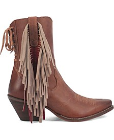 Women's Fringe Benefits Leather Bootie