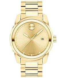 Men's Swiss Bold Verso Gold Ion-Plated Steel Bracelet Watch 42mm