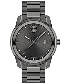 Men's Swiss Bold Verso Gunmetal Ion-Plated Steel Bracelet Watch 42mm