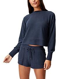 Women's Super Soft Lounge Long Sleeve Crew T-shirt