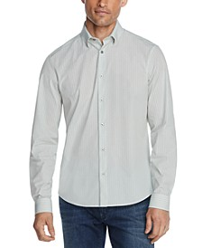 Men's Slim-Fit Basketweave Performance Dress Shirt