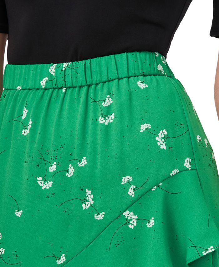 CeCe Asymmetrical Printed Skirt & Reviews - Skirts - Women - Macy's