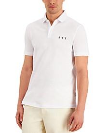 Men's Regular-Fit Stretch Star Logo-Print Piqué Polo Shirt, Created for Macy's