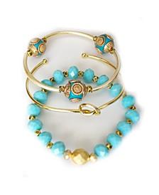 Women's Tiffani Bracelet Set, 3 Pieces