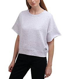 Raw-Edge Pullover Top