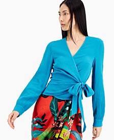 INC Cotton Surplice Top, Created for Macy's