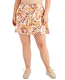 Plus Size Printed Tiered Skort, Created for Macy's