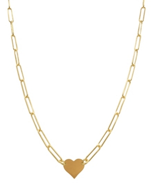 Heart Necklace with Paperclip Chain