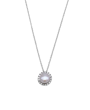 Floating Freshwater Pearl Halo Necklace