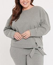 Plus Size Forever Comfort Tie Front Sweatshirt