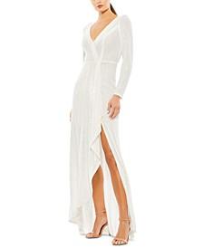 Sequined High-Slit Dress