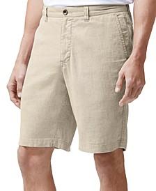 """Men's Beach Linen Stretch 10"""" Shorts"""