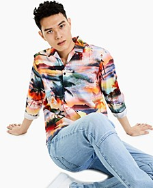 Men's Tropical Landscape Print Shirt, Created for Macy's