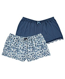 Women's Printed Knit Shorts, Pack of 2