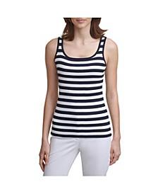 Stripe Sweater Tank Top