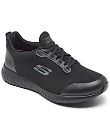 Women's Work: Squad Slip Resistant Wide Width Athletic Work Sneakers from Finish Line
