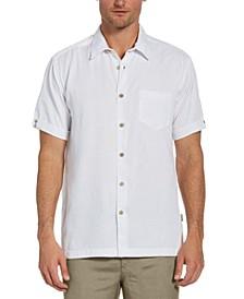 Men's Big & Tall Floral Jacquard Button Down Shirt