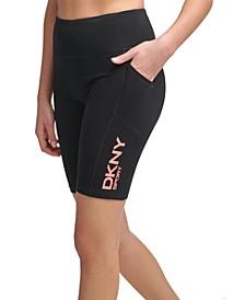 Logo-Graphic High-Waist Bike Shorts