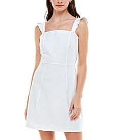 Juniors' Denim A-Line Dress