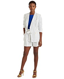 Linen Double-Breasted Blazer