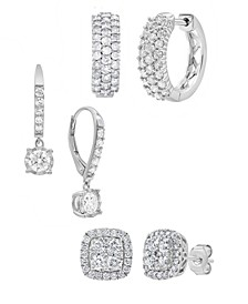 Diamond Earring Collection (1 ct. t.w.) in 14k White Gold