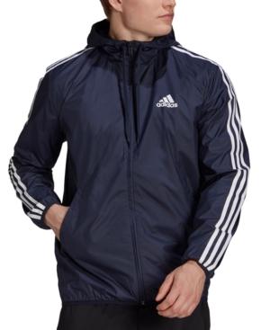 Adidas Originals ADIDAS MEN'S AEROREADY ESSENTIALS 3-STRIPES WINDBREAKER