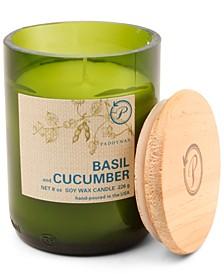 Eco Green Glass Candle - Basil & Cucumber, 8-oz.