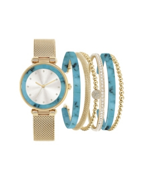 Jessica Carlyle Women's Gold-Tone Metal Multiple Strap Watch 37mm