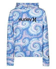 Big Girls Tie Dye Terry Pullover Sweatshirt
