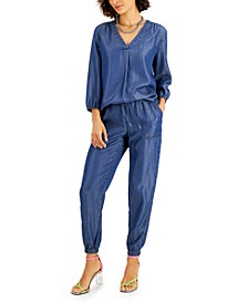 Blouse, Jogger Pants & Heeled Sandals, Created for Macy's