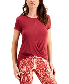 Twist-Front T-Shirt, Created for Macy's