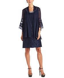 2-Pc. Lace Dress & Jacket