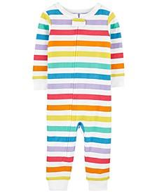 Toddler Boys and Girls Rainbow Snug Fit Cotton Footless Pajama