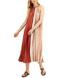 Colorblocked Pleated Dress, Created for Macy's