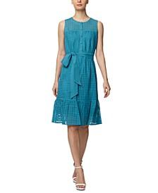 Cotton Eyelet Sleeveless Dress