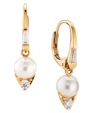 Imitation Pearl Lever Back Earring