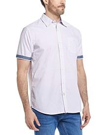 Men's Poplin Mini Print Shirt