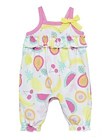 Baby Girls Fruit Print Romper