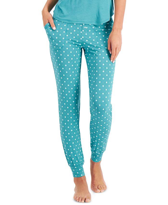 Alfani - Printed Knit Jogger Pajamas Pants