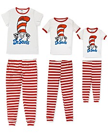 Women's, Big Kid & Toddler Cat In The Hat Mommy & Me Pajama Set