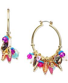 Gold-Tone Mixed Shaky Bead Hoop Earrings, Created for Macy's