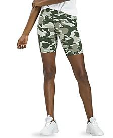 Essentials Camo-Print Bike Shorts